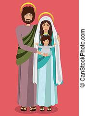 Christianity design over red background, vector illustration