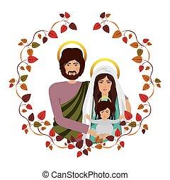 Christianity design over white background, vector...