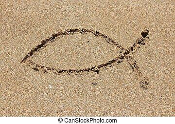 Christianity fish - Christianity symbol - religious shape...