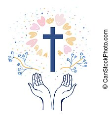 Christianity religion background illustration
