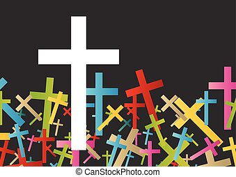 Christianity religion cross concept abstract background vector