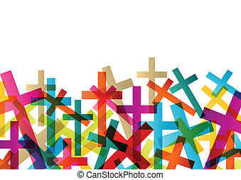 Christianity religion cross concept abstract background...