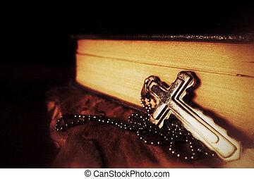 Christianity Religion Symbol Jesus Cross and Bible