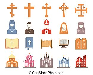 Christianity religion vector pastor religionism flat...