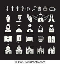 Christianity religion vector religionism flat illustration...