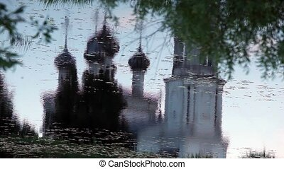 Christianity temple Reflection in w