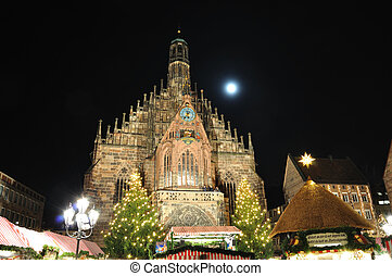 Nuremberg, Germany - Christkindlesmarket in Nuremberg,...