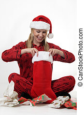 christman, κυρία , κάλτσα