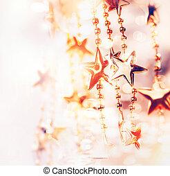 christmas假日, 摘要, 背景, 带, 星