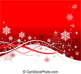 christmas假日, 背景, 矢量, 描述, 为, 你, 设计