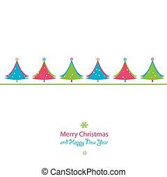 christmas új év, kártya
