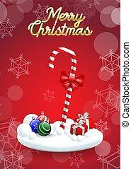 christmas!, キャンデー, 陽気, 杖, クリスマス, 幸せ