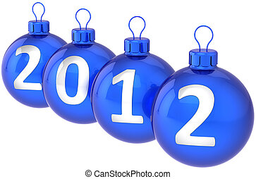 Christmas 2012 balls baubles blue