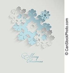 Christmas 3D Snowflakes Background