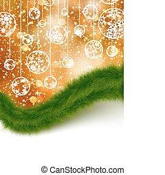 christmas., 8, ferie, card., eps