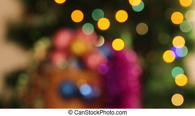 Christmas abstract background. Blurred lights