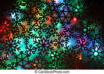 christmas abstract background from color lights