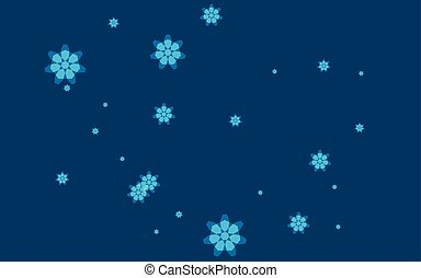 Christmas abstract background of snowflakes. Vector illustration