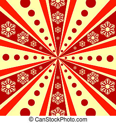 Christmas abstract background with rays (vector)