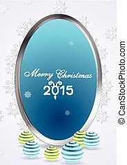Christmas abstract background with silver frame