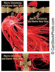Christmas abstract banners