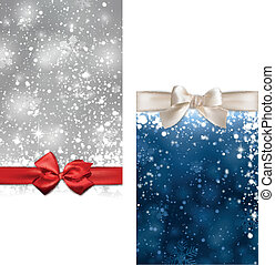 Christmas abstract banners. - Winter abstract banners....