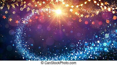 Christmas Abstract lights In Festive Background
