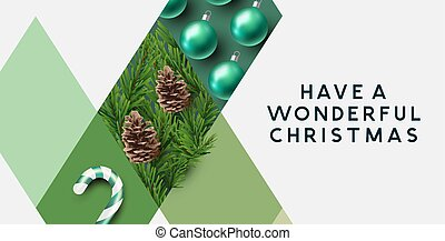 Christmas Abstract Pattern Design
