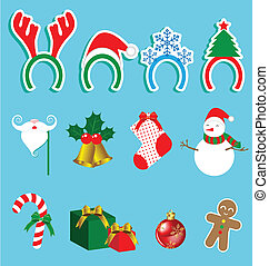 Christmas accessory vector set