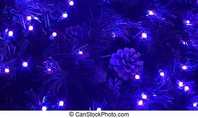 christmas acorns on tree