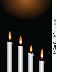Christmas advent candles - Illustration of the four...