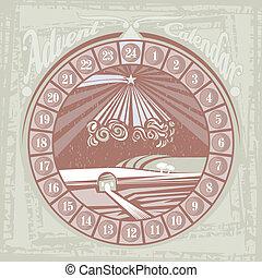 Christmas Advent Round Calendar