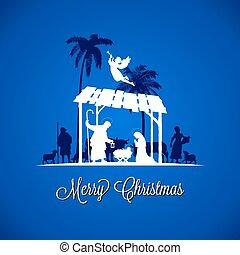 Christmas Advent Silhouette Scene