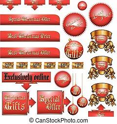 Christmas advertising set