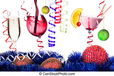christmas alcohol drinks set