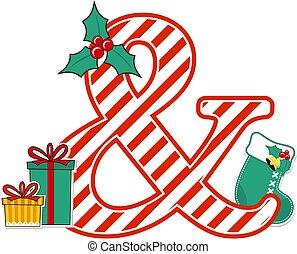 christmas alphabet ampersand
