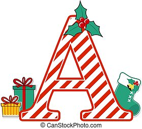 christmas alphabet letter a