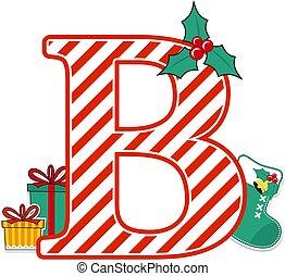 christmas alphabet letter b