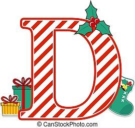 christmas alphabet letter d