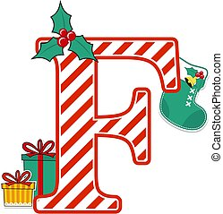 christmas alphabet letter f