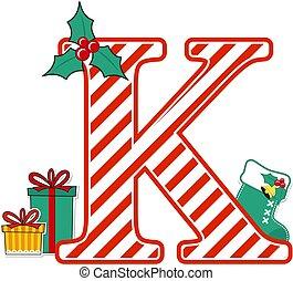 christmas alphabet letter k
