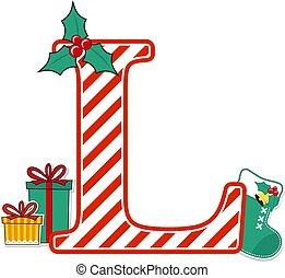 christmas alphabet letter l