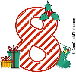 christmas alphabet number 8