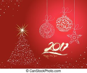 Christmas and happy new year 2017