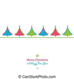 christmas and new year card - christmas and new year...