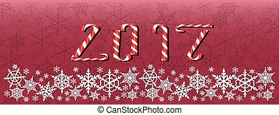 Christmas and new year dark red banner