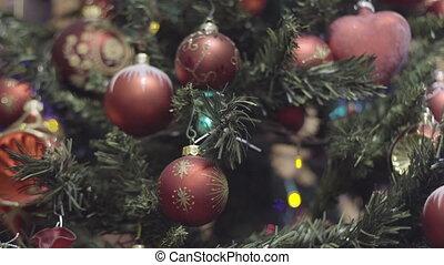 Christmas and New Year Decoration. Christmas Tree Lights...