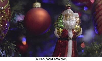 Christmas and New Year Decoration. Santa Claus Abstract...