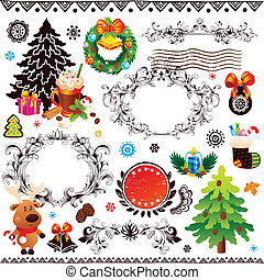 Christmas and New Year decoration set
