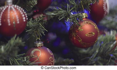 Christmas and New Year Decoration steady shot. Abstract...